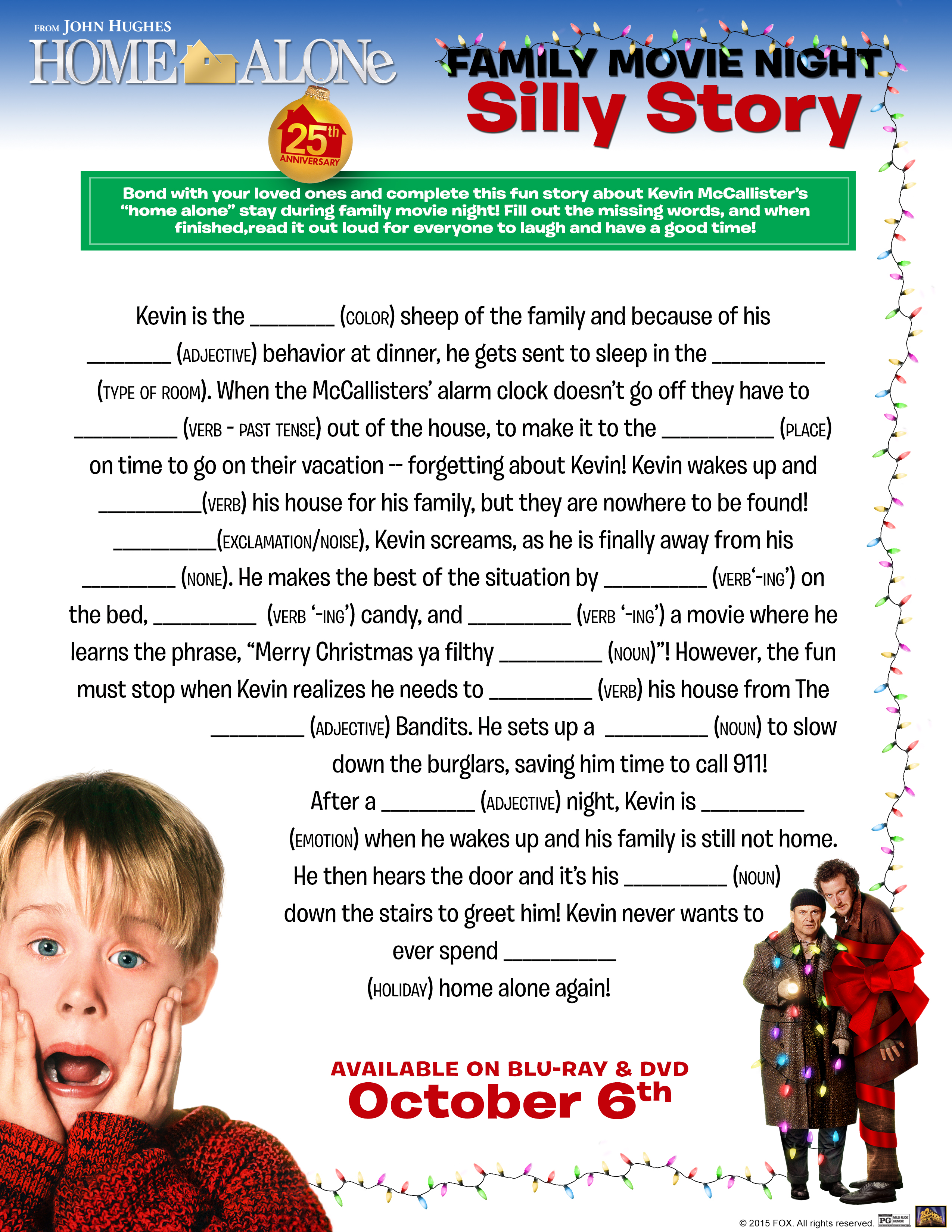 Home Alone 25th Anniversary Collector S Set And Activity Sheets Homealoneinsiders