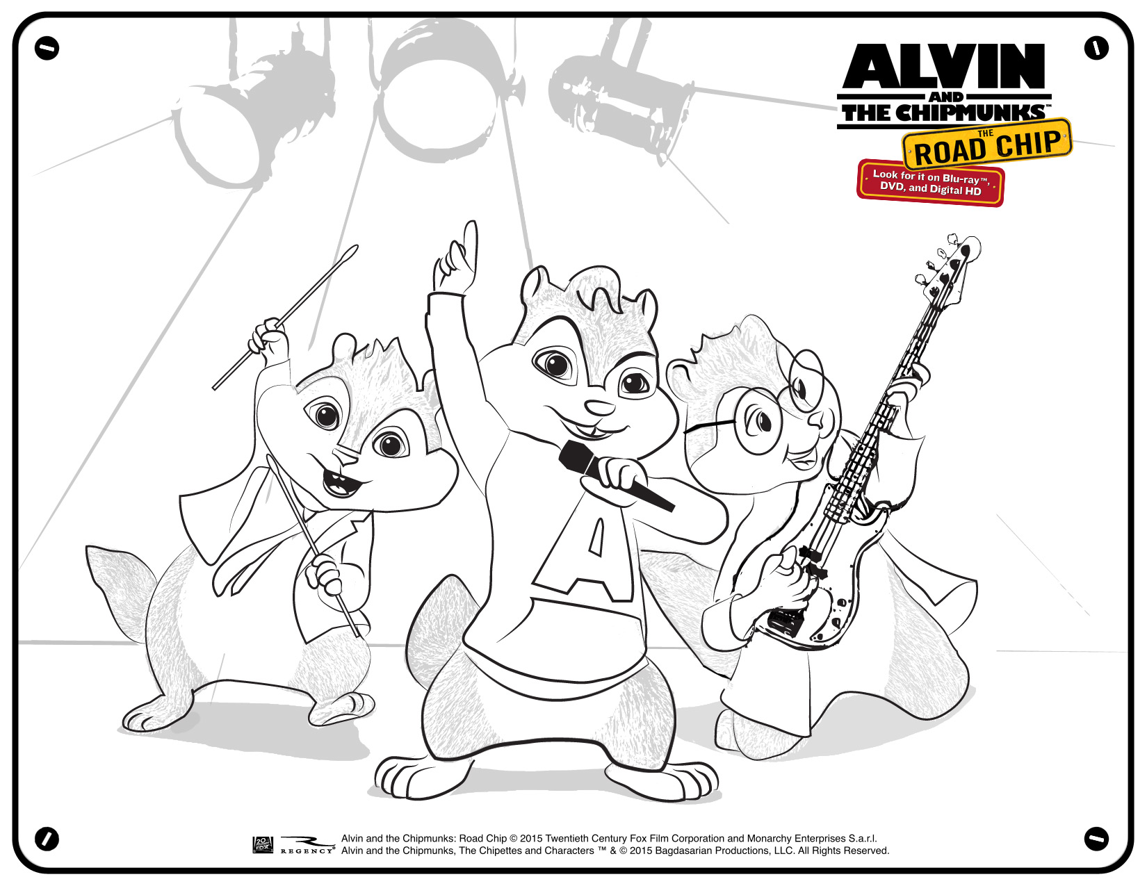 Alvin and the Chipmunks The Road Chip: Fun Printables #