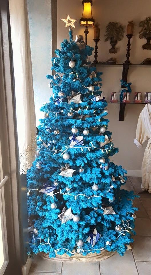 aqua blue spa - Aqua Christmas Tree