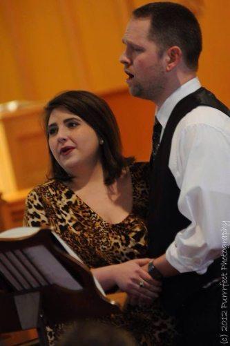Duetting with soprano Helen Wyatt
