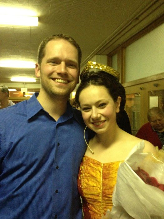 With student Sophia Magro after a performance