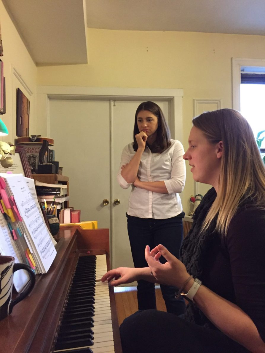 In a coaching with soprano Megan Hendrickson