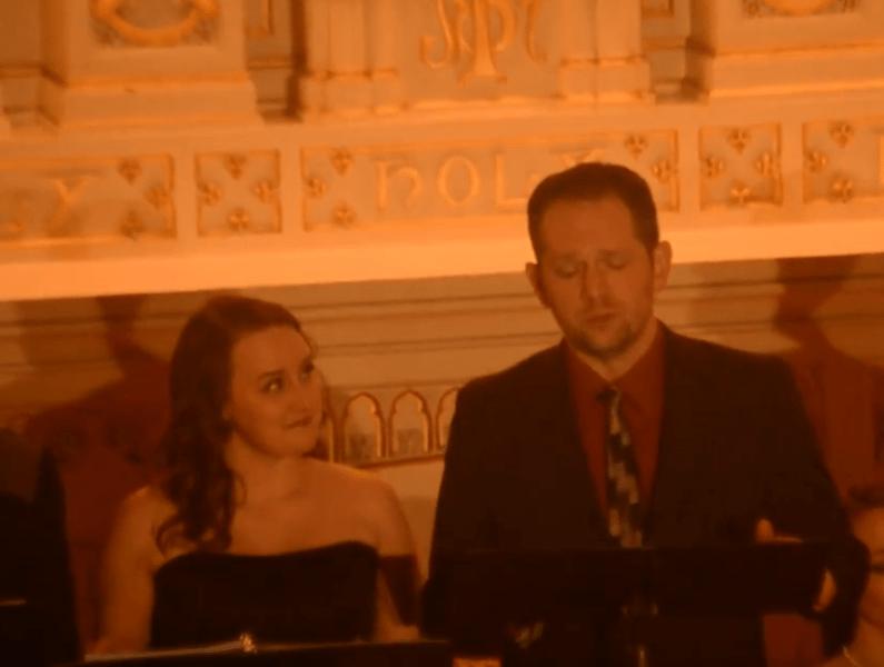 Singing with soprano Celeste Peake; image credit: Daniel Johansen