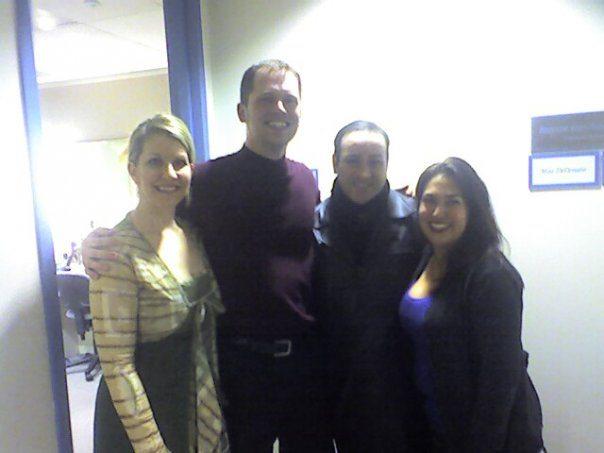 With Joyce DiDonato, John Osborn, and his wife Lynette Tapia, following their Lyric performance of Barbiere
