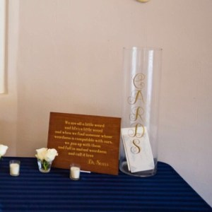 Wedding Card Vase
