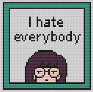 Lawrence Made Daria I Hate Everybody Cross Stitch Pattern