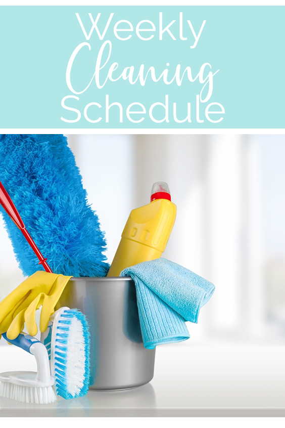Lawrence Made Weekly Cleaning Schedule