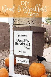 Lawrence Made Dead and Breakfast Sign