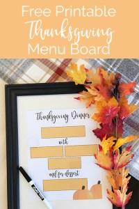 Lawrence Made Thanksgiving Menu Board