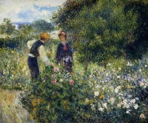Pierre-Auguste Renoir, Picking Flowers , 1875