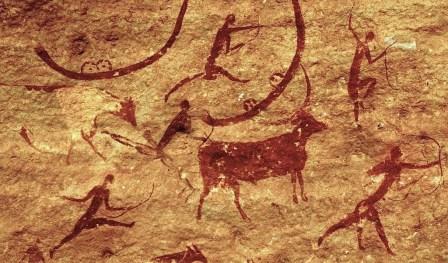 Tassili-n-Ajjer, Nigeria Section of rock-wall painting, ca. 5000-2000 B.C.
