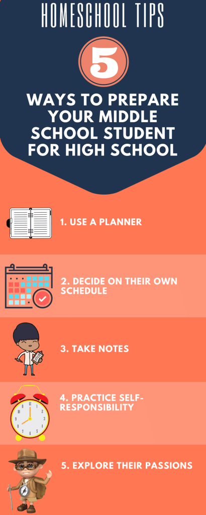5 ways to prepare your middle schooler for high school.