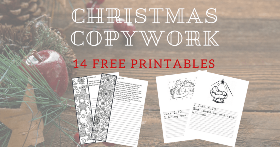 Free Christmas Copywork Printable–A Heart for Christmas