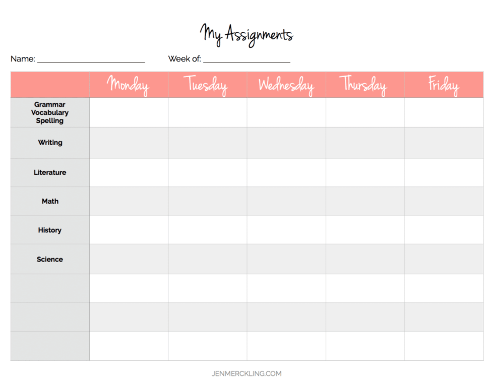 After 14 years, I've learned some simple tips for getting my home and homeschool organized, and I've created a planner to help you get organized too! Here is my Lesson Planning Page!