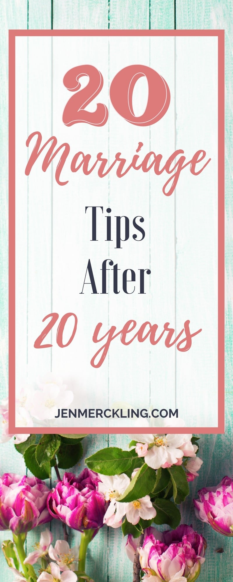 I'm sharing 20 Marriage Tips after 20 Years of Marriage! Marriage isn't always easy--but we've learned a lot along the way!