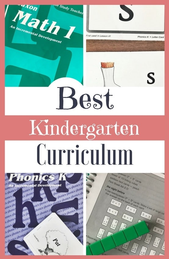 I'm sharing my favorite homeschool choices for the best curriculum for kindergarten! After homeschooling for 14 years and teaching four of my own children with these curriculum choices, I'm giving you tools for a simple and successful kindergarten year at home!