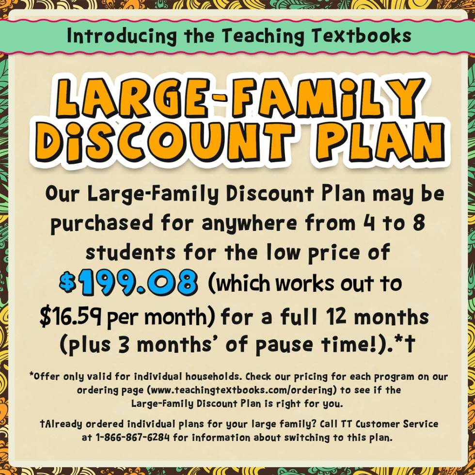 Teaching Textbooks has made such a positive impact on our homeschool! And the new Version 3.0 provides families with even more convenience and value!