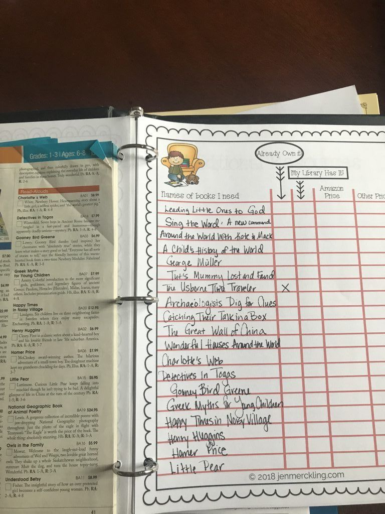 I love learning what curriculum other homeschool families are using with their kids! Here's a peek into what I'm using with with my 1st grade son (and why)! Here's how I keep track of all the books we need!