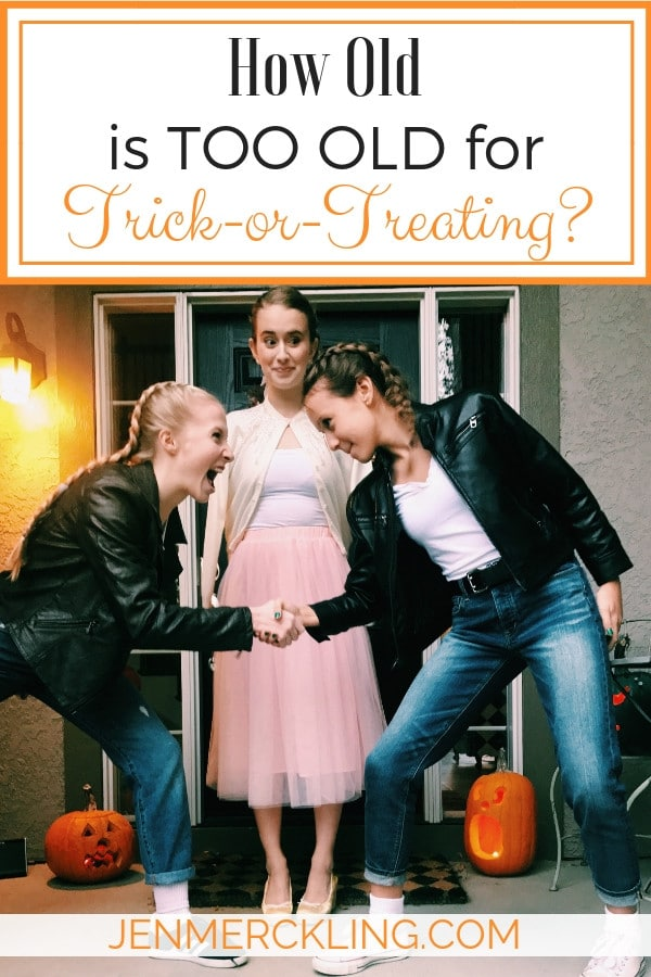 How old is too old for trick-or-treating? Here's why I let my teens go, and some thoughts about being kind to all trick-or-treaters this Halloween!