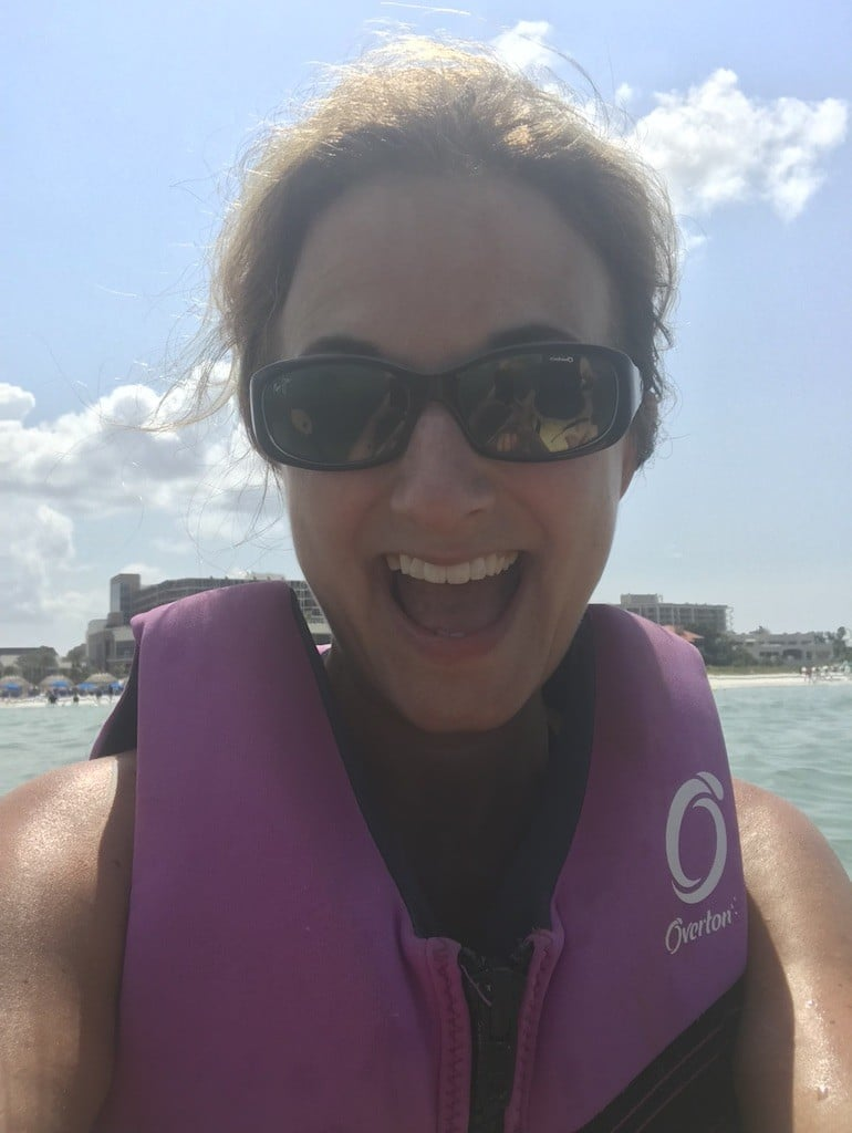 Enjoying Double Kayak at the JW Marriott Marco Island Beach Resort