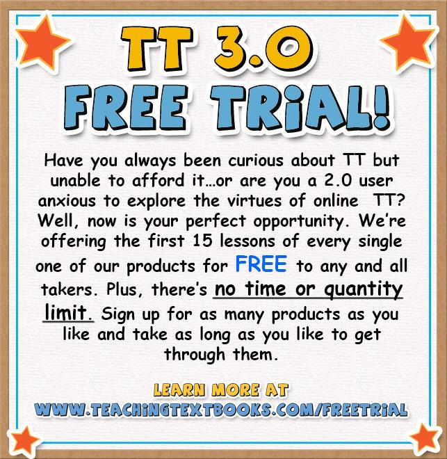 Teaching Textbooks 3.0 Free Trial Offer