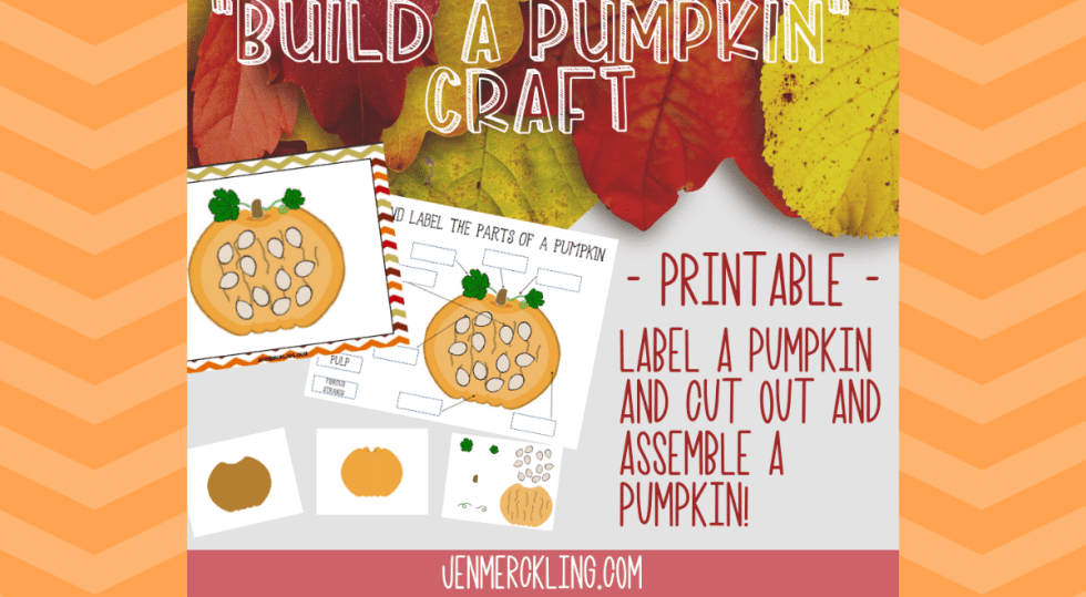 Great pumpkin lesson ideas and super simple pumpkin craft for kids! Grab my free printable pumpkin activity and get started with your kids!