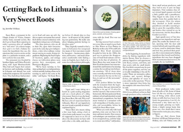 Sweet root restaurant article