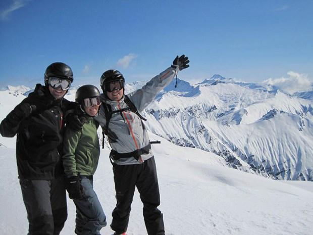 jenn joe jason New Zealand Harris Mountain Heliski
