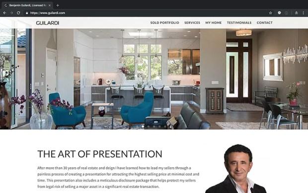 Benjamin Guilardi website design