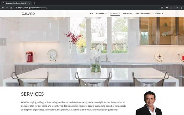 Benjamin Guilardi website design services