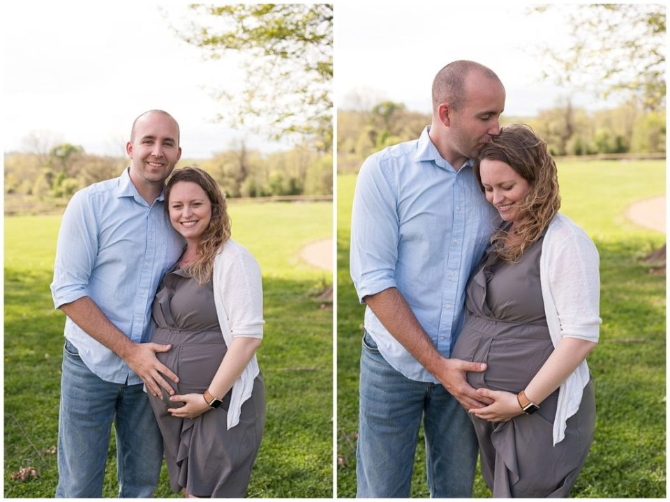 Shriver family maternity photos.