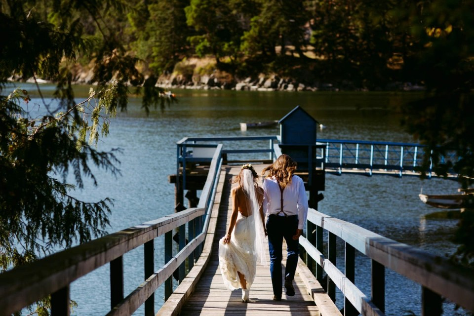 Insanely Fun Wedding At Bodega Ridge On Galiano Island