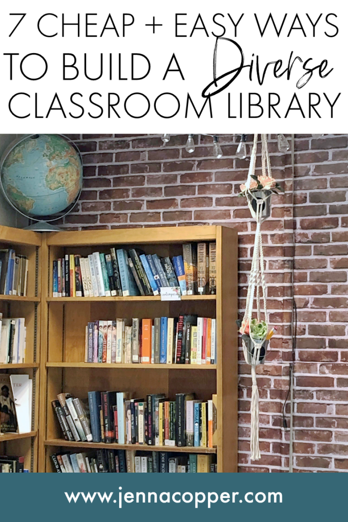 Building a diverse classroom library doesn't have to break the bank. In this post, you'll learn strategies to collect books for little or no money for your secondary classroom. These cheap tricks will help you build a classroom library that will encourage your middle school and high school students to love reading.
