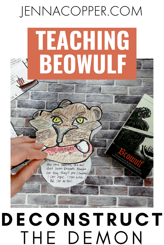Teaching Beowulf to high schoolers doesn't have to be boring! In this post, you'll learn four strategies and ideas to write awesome lesson plans! These ideas will engage your students in a study of Beowulf that connects the Anglo-Saxon Era to new perspectives.