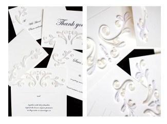 Wedding suite invitation design for Quilling Card