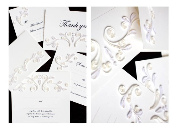 Wedding suite invitation design for Quilling Card