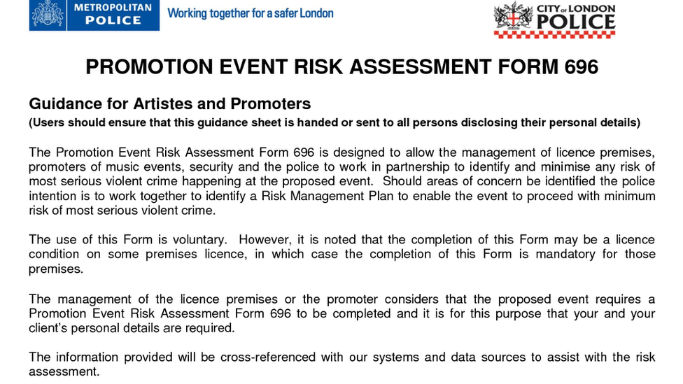 An Analysis of the Metropolitan Police risk assessment form 696 on ...