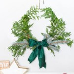 Diy Wire Hanger Evergreen Christmas Wreath Jenna Kate At Home