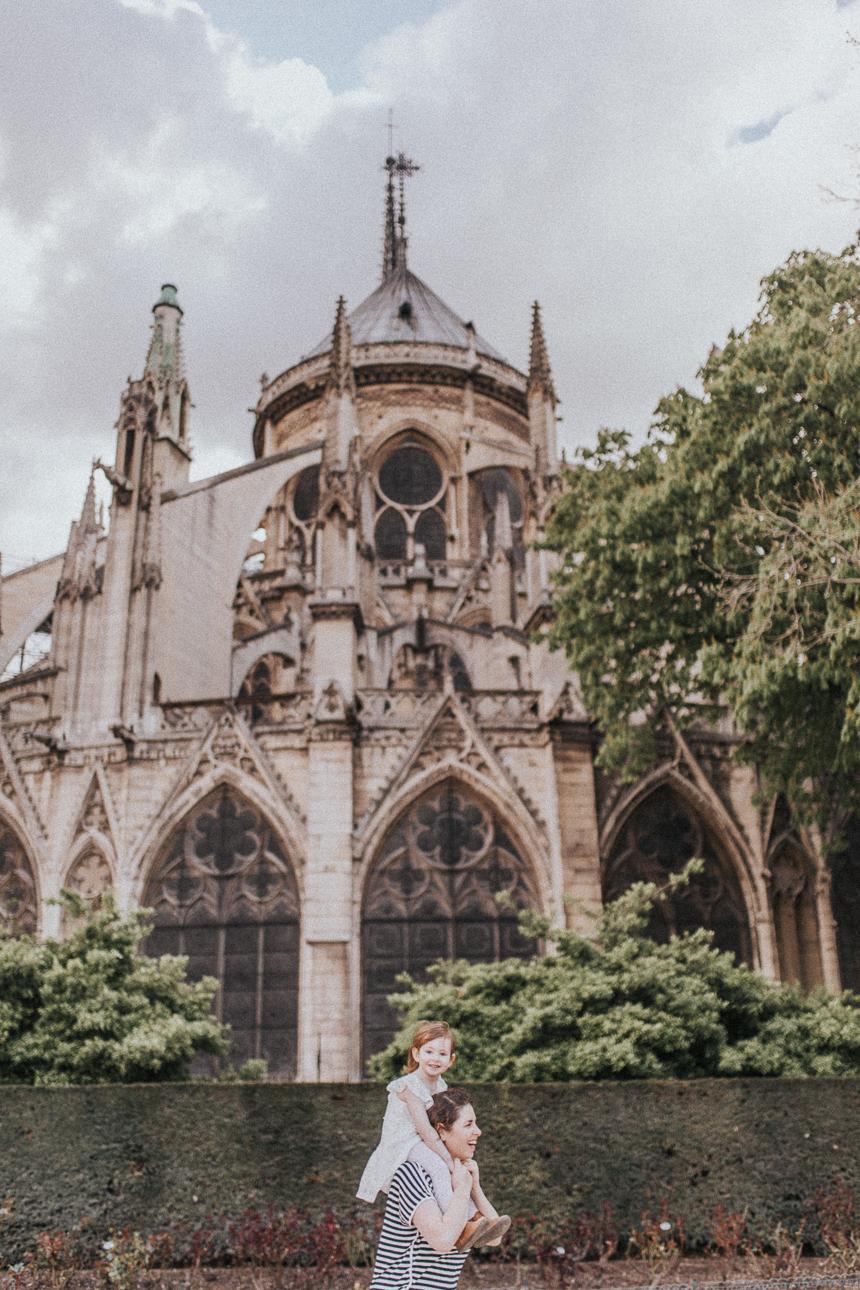 Exploring the Notre Dame in Paris, France.