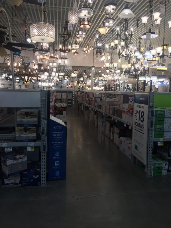Lowe's Photoshoot - Lighting Section