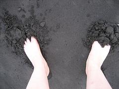 The black sand beach of the Pololu Valley, on the Kohala Coast of Hawaii's Big Island