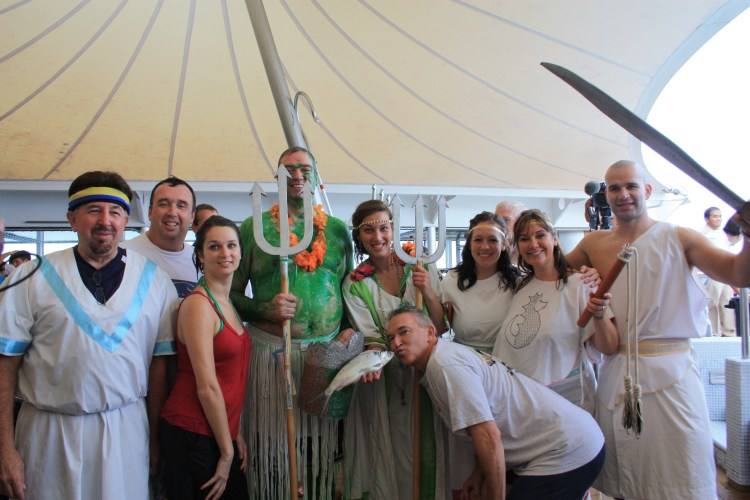 The members of Neptune's Court, part of the equator-crossing tradition