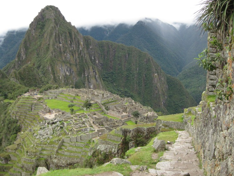 """A view from Machu Picchu, one of the """"New Seven Wonders of the World"""""""