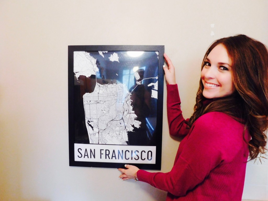Modern Map Art – San Francisco