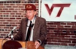 Joe Ware opening Joseph F. Ware, Jr. Advanced Engineering Laboratory, Virginia Tech, 1998.