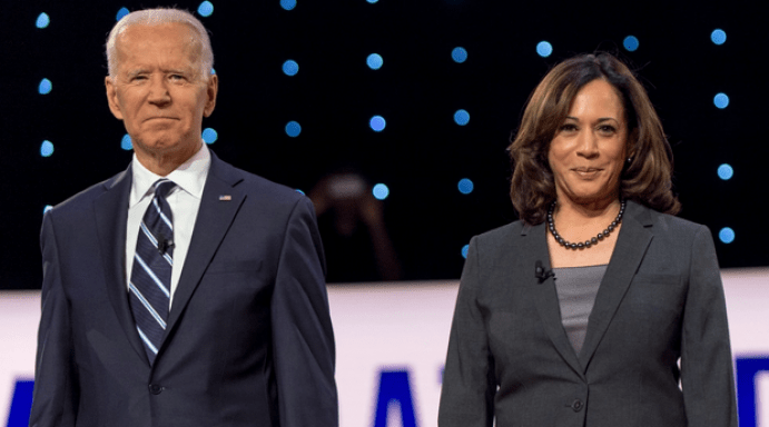 Joe Biden and Kamala Harris, running for President and Vice President.