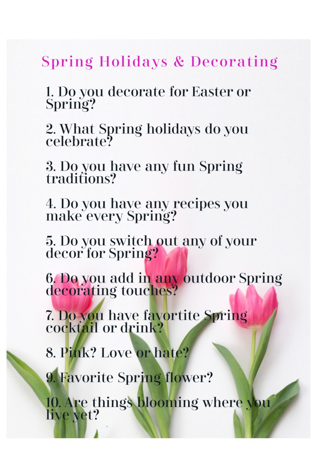 Spring Holidays & Decorating