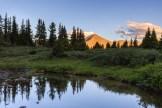 The last light of day bathes Jones Mountain North.