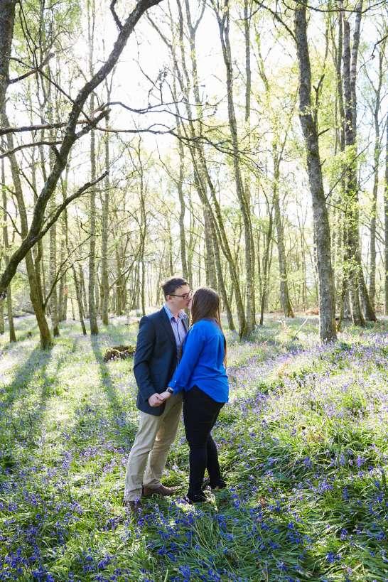 natural romantic engagement photography