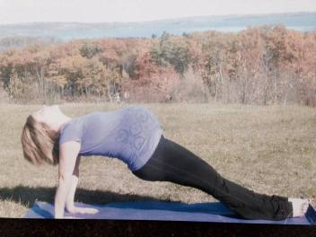julie reverse plank